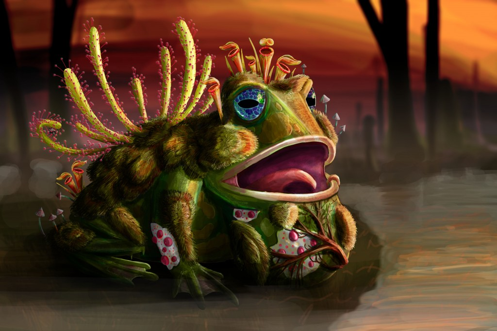 Carnivorous Plant-Frog