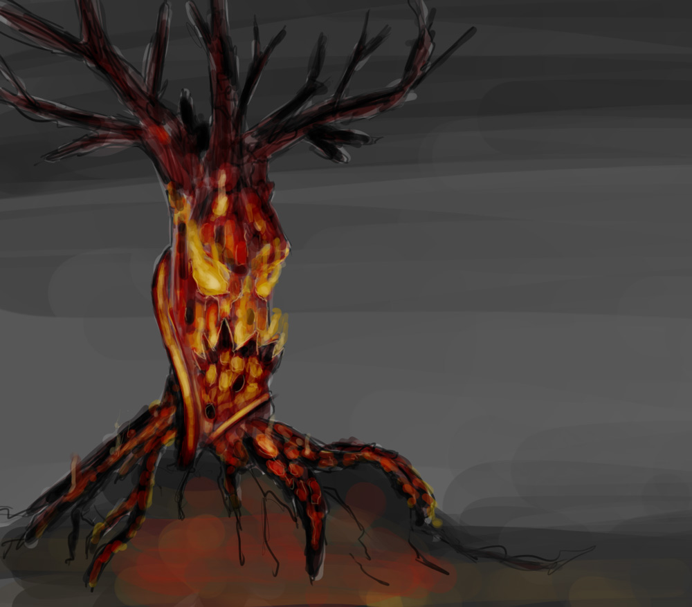 30 minutes - burned tree